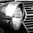 Stock Photo: Car Headlamp Chevrolet AK Pickup Truck (1938), black and white