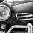 Headlamp car Volkswagen Karmann Ghia, black and white — Stock Photo