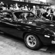 Pony car Plymouth Barracuda, (black and white) — Stock Photo