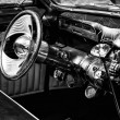 Постер, плакат: Cab Custom Car based on the Buick Skylark black and white
