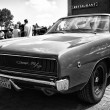 Постер, плакат: Mid size car Dodge Charger RT black and white