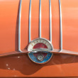 The emblem on the trunk lid car Pontiac Star Chief — Stock Photo