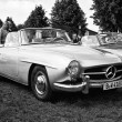 Car Mercedes-Benz 190SL (black and white) — Foto Stock