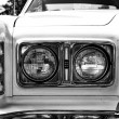 Headlights full-size car Ford LTD (Americas), 1977, black and white — Stock Photo