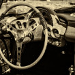 Постер, плакат: Cab the car Chevrolet Corvette First generation C1 sepia