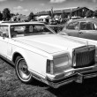 Personal luxury car Lincoln Continental Mark V (black and white) — Stockfoto