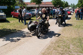 Bikers at the exhibition — Stock Photo