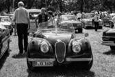 スポーツ車ジャガー xk120、黒と白 — ストック写真