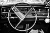 Cab full-size car Buick Le Sabre Custom 1967, Cabrio, (black and white) — Stock Photo