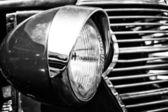 Car Headlamp Chevrolet AK Pickup Truck (1938), black and white — Stock Photo