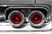 The rear brake light midsize car Dodge Charger RT, (black and white) — Stock Photo