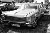 Luxury car Opel Diplomat, (black and white) — Stock Photo