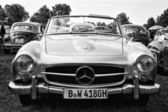 Car Mercedes-Benz 190SL (black and white) — Photo