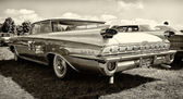 Full-size car Oldsmobile 98 (Fifth generation), rear view, sepia — Stock Photo