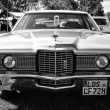 Full-size car Ford LTD (Americas), 1972, black and white — Stock Photo