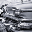 Headlamp full-size car Buick Special (1958), black and white — Stock Photo