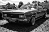Executive car Opel Commodore GS-E Coupe (black and white) — Stock Photo
