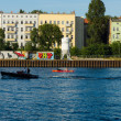 Embankment of the River Spree district of Friedrichshain-Kreuzberg — Stock Photo