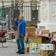 Stock Photo: Street of old books for sale (flemarket) in front of Humboldt University on Unter den Linden