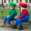 Animators in costume Super Mario Bros. near the Brandenburg Gate — Stock Photo #35113175
