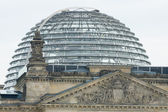 Reichstag dome - designed by architect Norman Foster and built to symbolize the reunification of Germany — Stock Photo