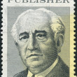 Stock Photo: Postage stamp printed in USA, shows Adolph S. Ochs, Publisher of NY Times
