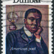 A postage stamp printed in USA, American Arts Issue, shows an American poet, Paul Laurence Dunbar — Stock Photo