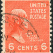 Postage stamps printed in USA, shows 6th President of the United States, John Quincy Adams — Stock Photo