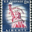 A postage stamp printed in USA, shows one of the symbols of America, Statue of Liberty — Stock Photo #36494185
