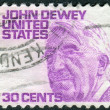 A postage stamp printed in USA, shows a portrait of an American philosopher, psychologist, and educational reformer, John Dewey — Stock Photo