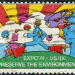 "Postage stamp printed in the USA, dedicated to the Expo'74, Spokane, Washington, Theme, ""Preserve the Environment, shows ""Cosmic Jumper"" — Stock Photo"