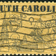 Stock Photo: Postage stamp printed in USA, dedicated to 300th anniversary of founding of Charles Town (Charleston), 1st permanent settlement of SC