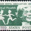 Stock Photo: Postage stamps printed in USA, Dental Health Issue, Publicizing dental health and centenary of AmericDental Association