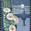 Postage stamp printed in the USA, dedicated to the 50th anniversary of Arizona Statehood, shows Giant Saguaro Cactus — Foto de Stock