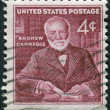 Постер, плакат: A postage stamp printed in USA shows Andrew Carnegie industrialist and philanthropist