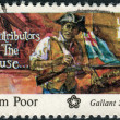 A postage stamp printed in the USA, dedicated to the American Bicentennial Contributors to the Cause, shows Salem Poor — Foto de Stock