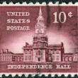 Postage stamps printed in USA, Allied Nations Issue, shows Independence Hall in Philadelphia — Stock Photo #36497041