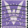 Stock Photo: Postage stamp printed in the USA, Win the War Issue, shows American Eagle