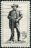 Postage stamps printed in USA, shows Sam Houston (1793-1863), soldier, president of Texas, US senator — Stock Photo