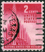 Postage stamps printed in USA, Allied Nations Issue, shows the Allegory of Victory — Stock Photo