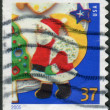 Postage stamps printed in USA, Christmas Issue, shows a Christmas Cookies, Santa Claus — Stock Photo