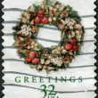 Stock Photo: Postage stamps printed in USA, Christmas Issue, shows Wreaths, Victorian