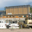 Sibelius Hall (Sibeliustalo) - the largest in Northern Europe, the concert hall and congress hall of wood. View from the port on Lake Vesijarvi — Stock Photo