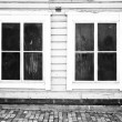 Old window. Background. Black and White — Stock Photo #36954511