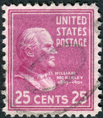 Postage stamp printed in the USA, a portrait of 25th President of the United States, William McKinley — Stock Photo