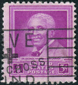 Postage stamp printed in the USA, dedicated to the 5th anniversary of the death of Dr. George Washington Carver, scientist — Stock Photo