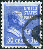 "Postage stamp printed in the USA, a portrait of 26th President of the United States, Theodore ""TR"" Roosevelt, Jr. — Stock Photo"