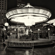Children's Carousel at the Christmas market at Potsdamer Platz — Stock Photo