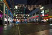 Streets on Postadmer Platz in the Christmas illuminations — Stock Photo