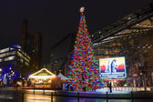 Christmas tree on the Potsdamer Platz — Stock Photo